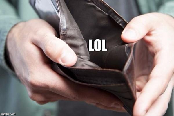 empty wallet meme