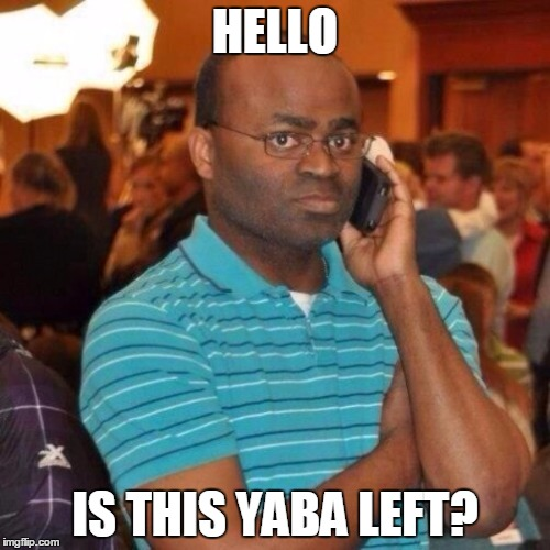 man on phone yaba left