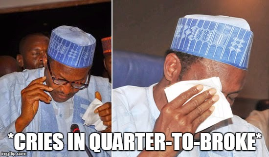 Buhari tears broke