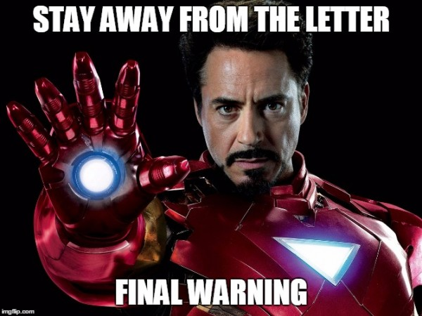 Ironman stay away
