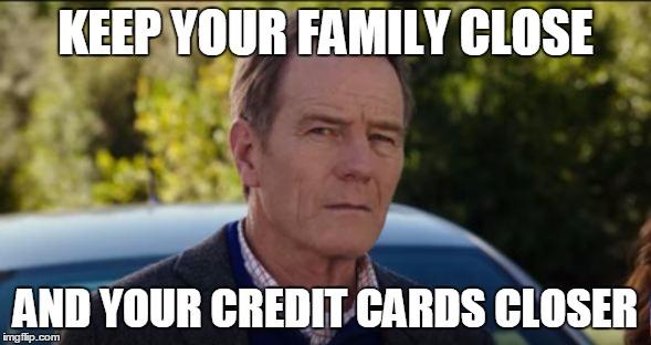 Bryan Cranston credit card