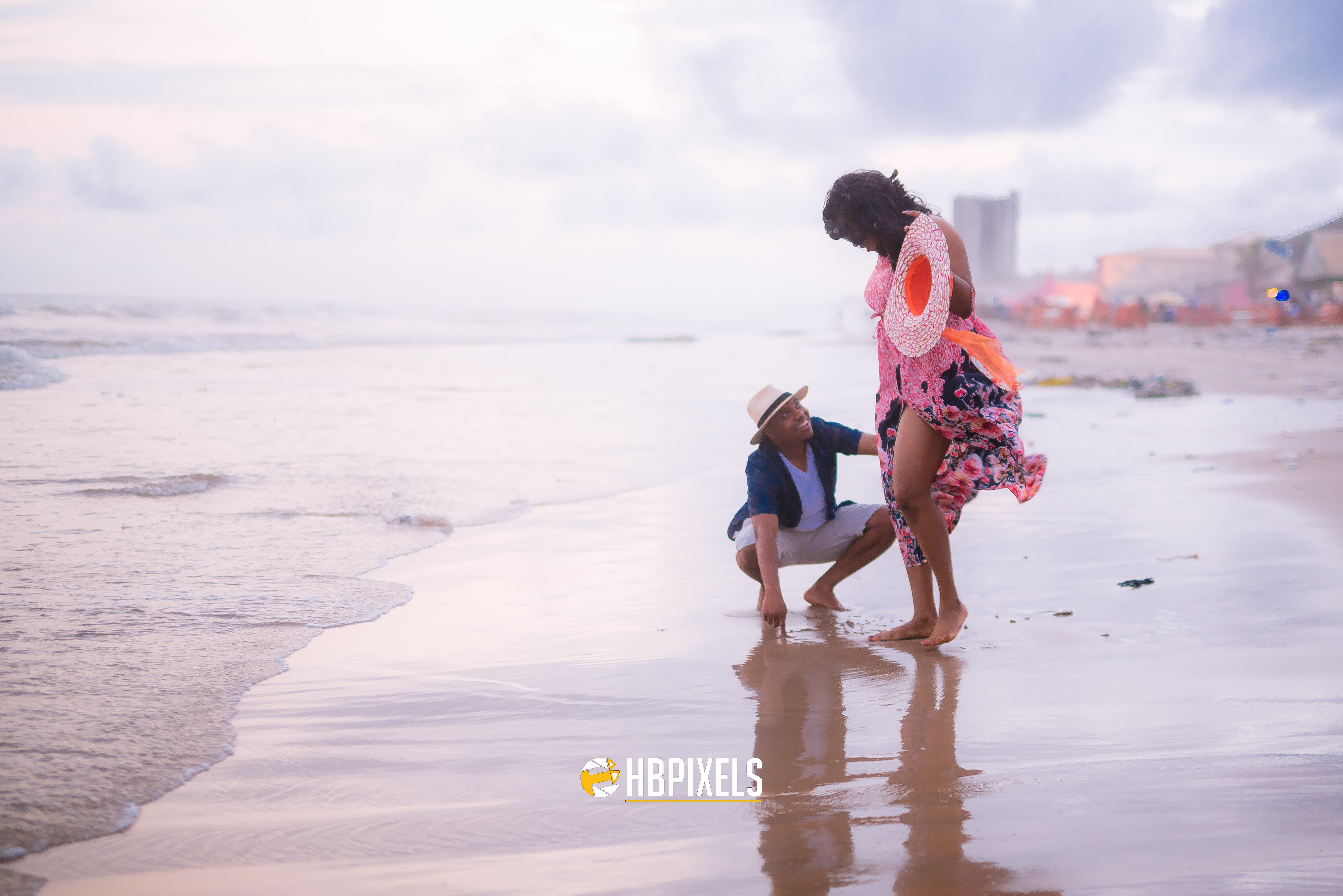 Adorable photos from Ibinabo and Micheal\'s beach themed pre-wedding ...