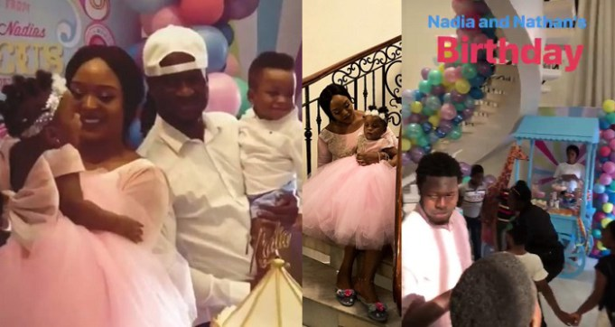 first photos from paul and anita okoye s twins circus themed
