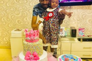 9ice and lover, Sunkanmi Ajala, celebrate their daughter's 4th birthday (photos)