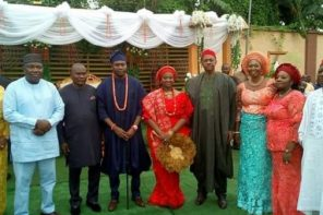 First photos from wedding of former Enugu state governor, Sullivan Chime's daughter