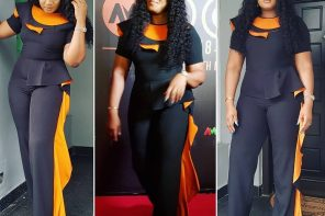 Omotola Jalade-Ekeinde's enchanting look to AMVCA nominee party (photos)