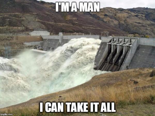 Dam burst cry meme