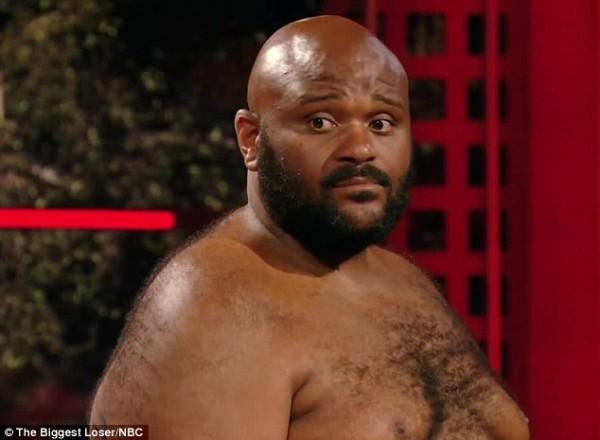 Fat man shirtless