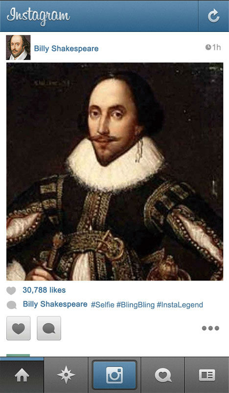 ShakespeareSelfie