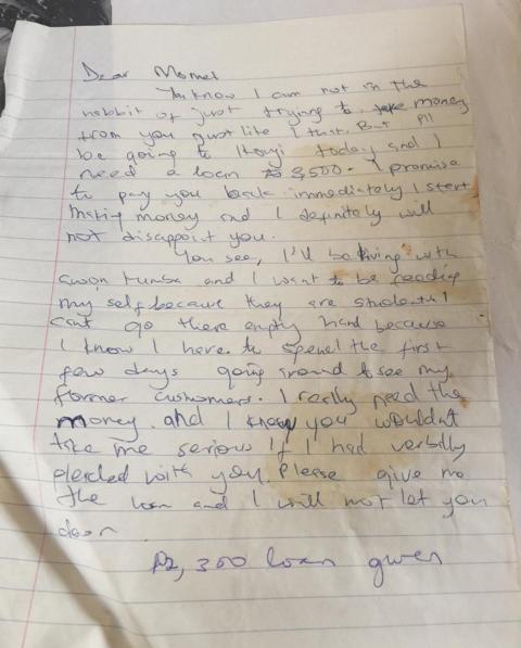 TY Bello Letter