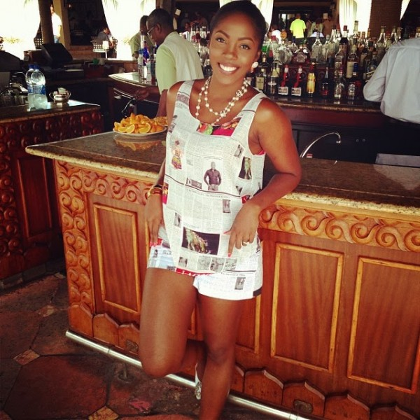 tiwa-savage-newspaper-dress1