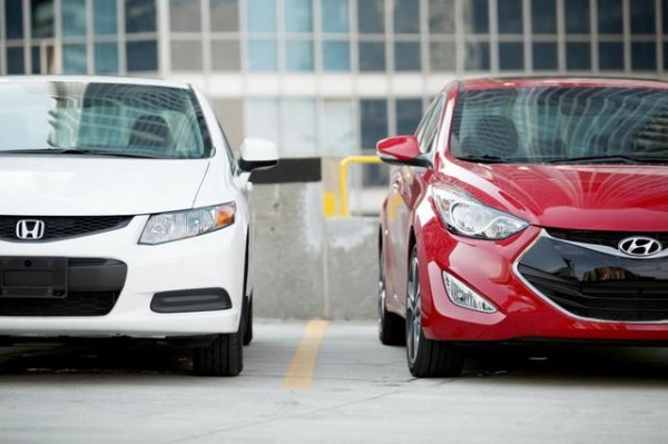 Honda-Civic-Coupe-and-2013-Hyundai-Elantra-Coupe-front