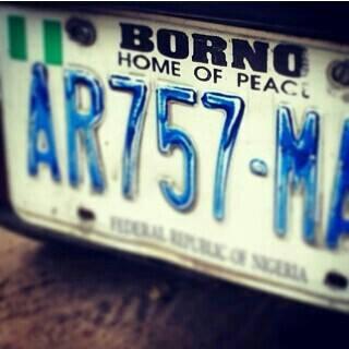 borno-plate-number