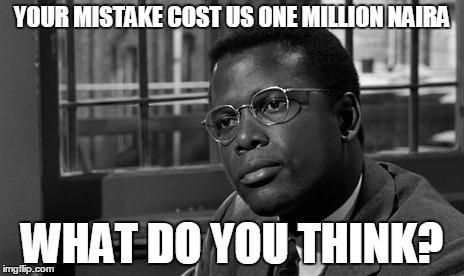 Black man mistake