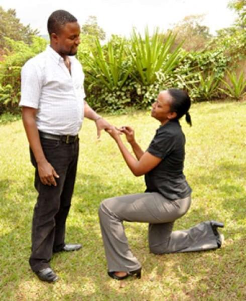 Woman proposal