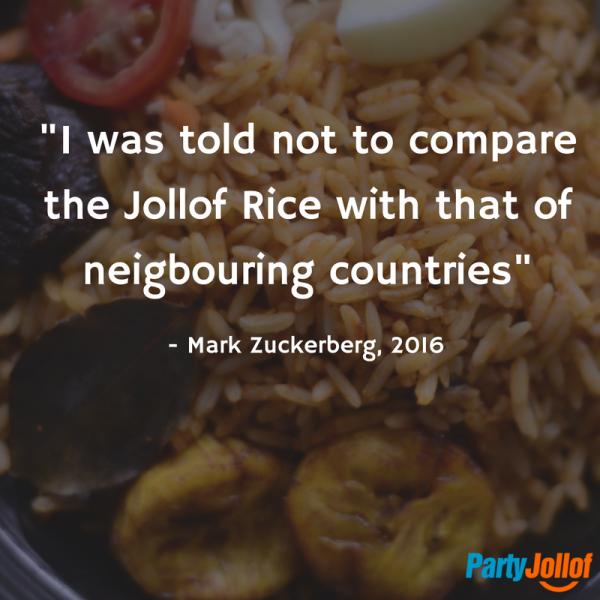 Mark Zuckerberg and The Nigerian Jollof